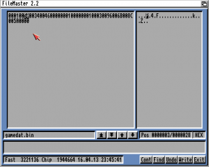 Editing Fury of the Furries savefile on classic Amiga